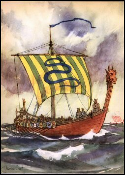 Viking Ship by Gordon Grant